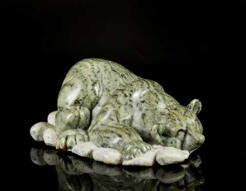 Inuit Carved Soapstone Grizzly Bear