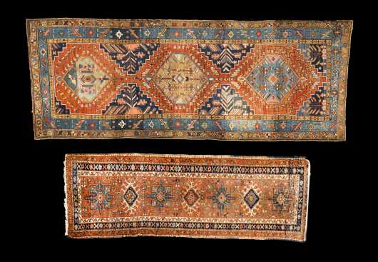 Two Heriz Oriental Rug Runners
