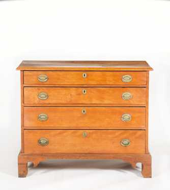 New Hampshire Four Drawer Wavy Birch Chest