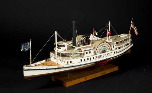 """Nantucket"" Ship Model Side Paddle Wheel"