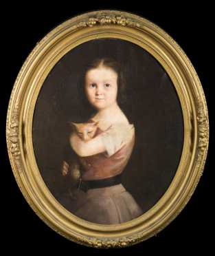 19thC Oval Portrait of Kate Eliza Clark, American