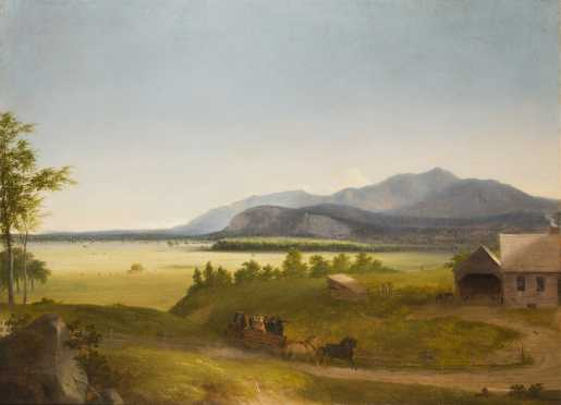 School of John F. Kensett or Benjamin Champney- Moat Mountain/ N.Conway Meadows, 19thC