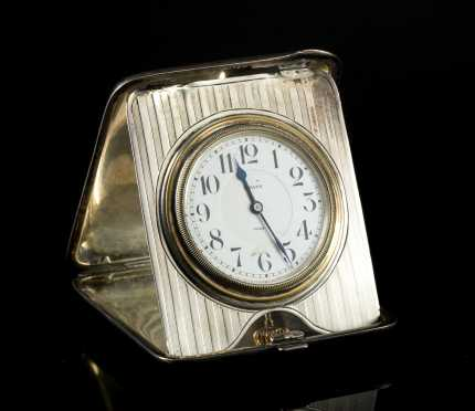 Silver cased Octava Travel Watch
