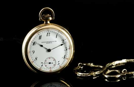 Patek Philippe Gold Pocket Watch Made for Mermod & Jaccard, St. Louis