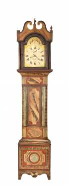 Vermont Paint Decorated Tall Case Clock