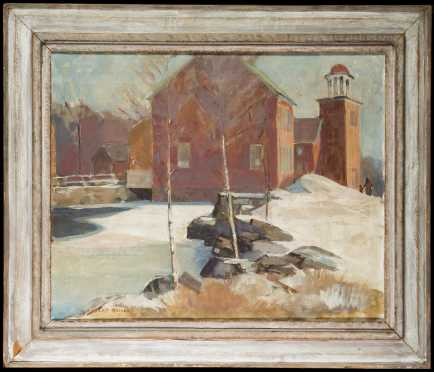 "Albert Duvall Quigley, NH (1891-1961) ""Harrisville"" Painting"