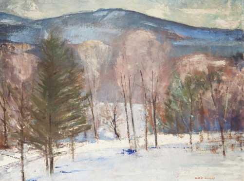 Albert Duvall Quigley, Mount Monadnock Painting
