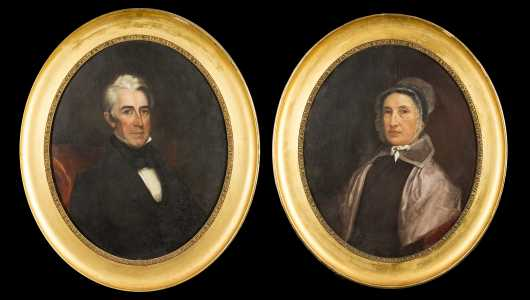 Pair of 19thC Oval Portraits with History