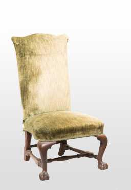 Rare Rhode Island Mahogany Chippendale Slipper Chair