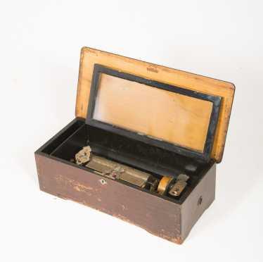 "Swiss L19thC Twelve Tune Music Box ""MF1816"""