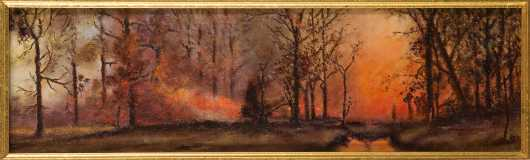 19th Century Forest Fire Scene, White Mountains