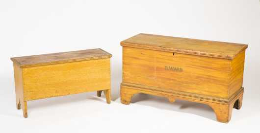 Two Paint Decorated Blanket Chests