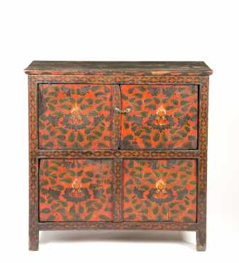 Tibetan Paint Decorated Cabinet