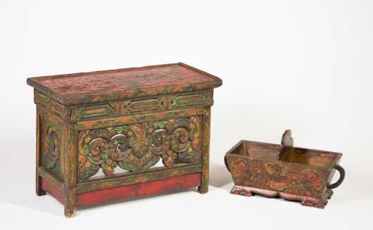 Early Tibetan Offering Cup and Lama Table