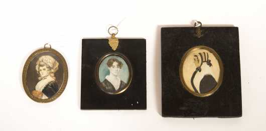 Three Miniature Paintings of Women