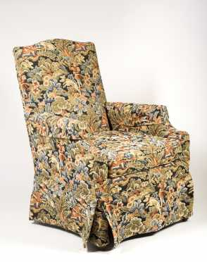 Upholstered 20thC Wing Chair