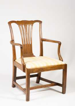 English Mahogany Chippendale Armchair