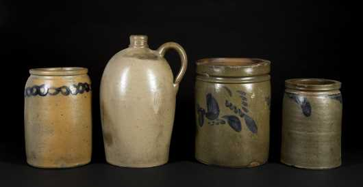 Four Pieces of Gray Glazed Stoneware