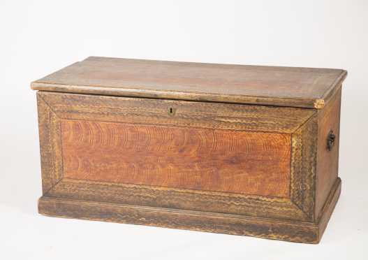 19thC Paint Decorated Blanket Chest