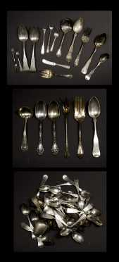 Large Lot of Coin Silver and Sterling Silver Spoons