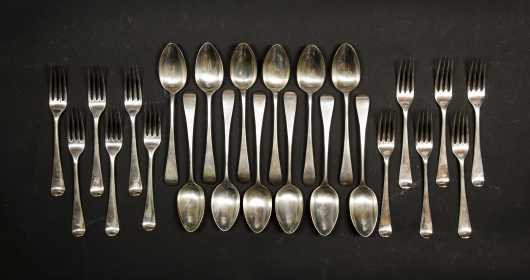 An Assembled Set of L18thC English Silver