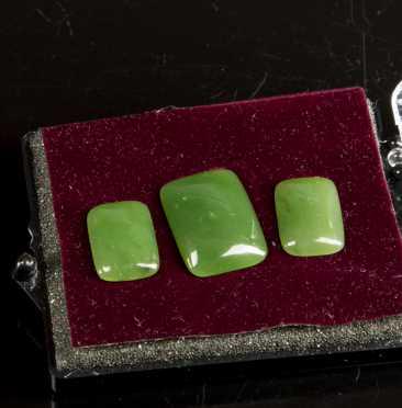Three Jade Cabochons