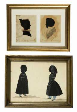 Two 19thC Silhouettes of Families