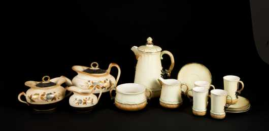 Fourteen Pieces of Hampshire Pottery