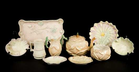 Ten Pieces Hampshire Pottery