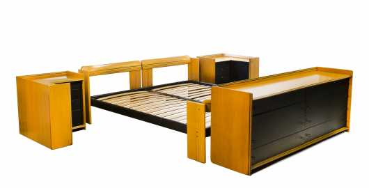 Quality Afra and Tobias Scarpa Four Piece Laminated Bedroom Set *AVAILABLE FOR $2,500.00*