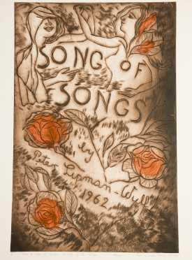 """Peter Lipman Wulf, """"Song of Song"""" Twenty Block Printed Artworks"""