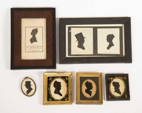 Six 19thC American Silhouettes