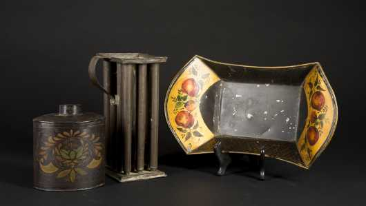 Three Pieces of Tin Ware