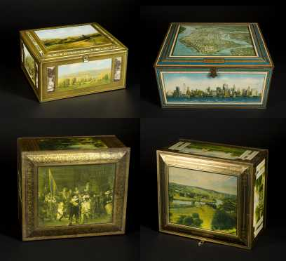 Four Country Store Biscuit Tins