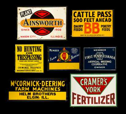 Seven Farm Country Store Tin Advertising Signs