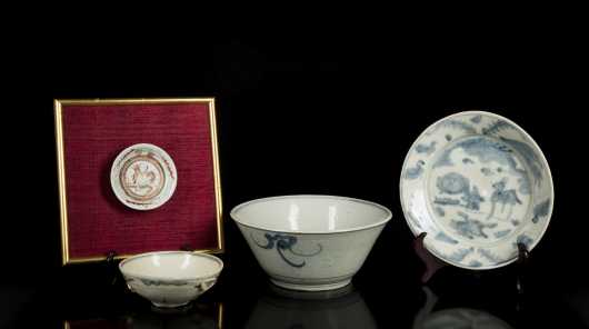 Lot of Four Early Chinese Blue and White Porcelain