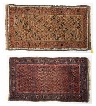 Two Balochistan Antique Scatter Rugs