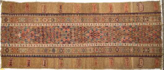 Antique Camel Hamadan Runner