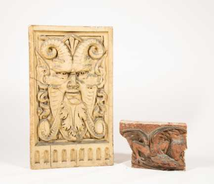 Two Architectural Clay Elements