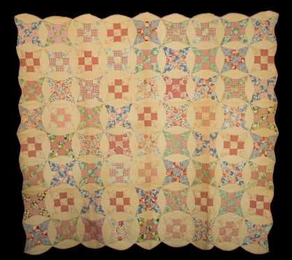 Variation of Nine Patch Quilt with History