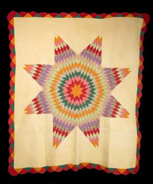 """Center Star"" Multicolor Quilt"