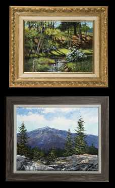 Two Joan M. Tierney, Wilton New Hampshire, 20thC Paintings