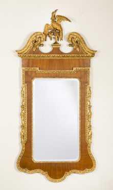 English Georgian Style Mirror with Phoenix Crest