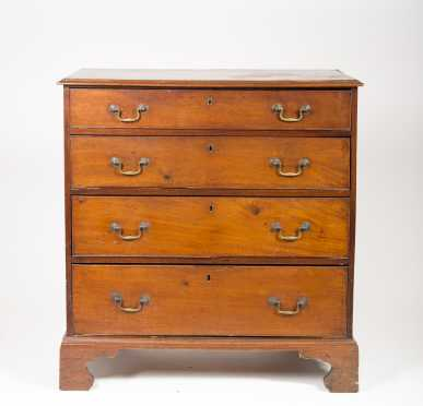 English Chippendale Four Drawer Chest