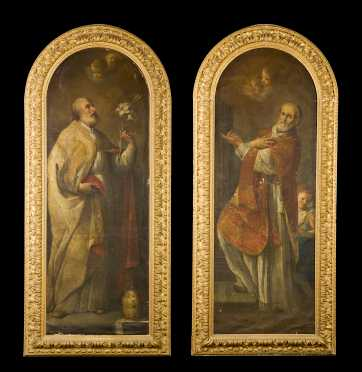 Andrea Sacchi, Italian (1599-1661) Attributed, Two Religious Paintings