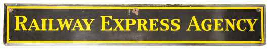"""Railway Express Agency"" Metal Sign"