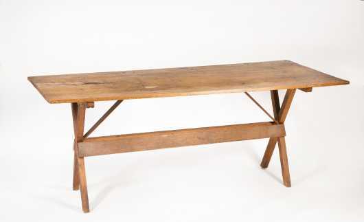 """New Hampshire 6' 2"""" Primitive Sawbuck Table"""