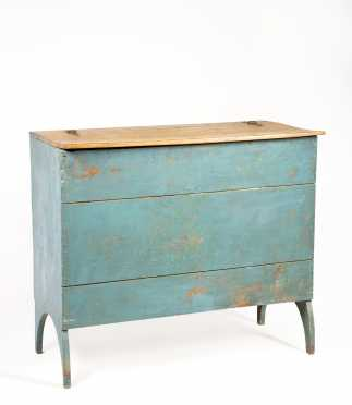 Rare New Jersey Blue Painted Bakers Box on Arched Legs