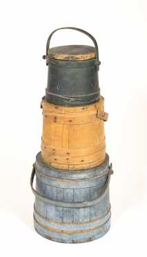 A Stack of Painted Firkins
