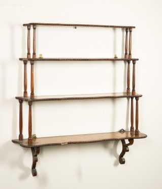 Serpentine Shaped Mahogany Hanging Shelf